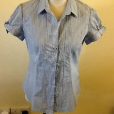 Marks and Spencer Striped Collared Short Sleeve Women's Tops & Shirts