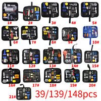 39/139/146Pcs/set Watchmaker Watch Repair Tool Kit Back Case Opener Remover Tool