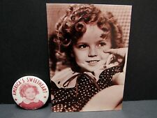 "VINTAGE SHIRLEY TEMPLE POCKET MIRROR  ""AMERICA's SWEETHEART"" - B & W PHOTO COPY"