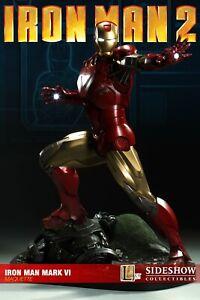 Sideshow Collectibles Iron Man Mk VI Maquette Statue - Iron Man 2 - RARE!
