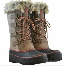 KHOMBU FUR LINED NORTH STAR TAN WINTER SNOW BOOTS WOMAN'S SIZE 6