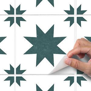 Green Modern Star Tile Sticker Decal Bathroom Kitchen - T29