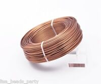 1Roll 47meters 12Gauge 2.0mm Aluminum Wrap Craft Wire Jewelry Making Deep Copper