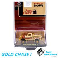 GOLD CHASE ! M2 Machines 1:64 - 1976 GMC Sierra Grande 15 Desert Fox Truck Brown