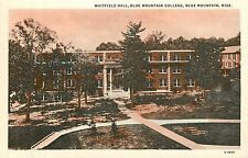 Mississippi, MS, Blue Mountain, Whitefield Hall, Blue Mt College Postcard