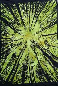 Forest Tree Wonderful Colourful Design Picture Small Art Cotton Tapestry Poster