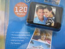"""Coby DP-161 1.5"""" LCD Digital Picture Keychain Holds 120 Photos - Blue"""