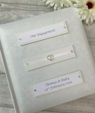 Personalised Traditional Our Engagement Photo Album Gift 200 6x4 Photos