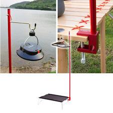 SUNDICK Outdoor Camping Folding Lamp Post Pole Tent Table Hanging Light Holder