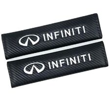 New ListingCar Seat Belt Cover Shoulder Pads Cushion For Infiniti Embroidered Carbon Fiber