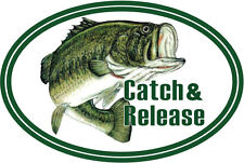 "Catch & Release sticker decal 5"" x 3"""