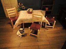 *** nuevo silla con geflochtener superficie de asiento marrón 1:12 nuevo ***