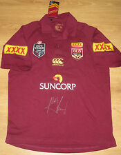 Wally Lewis (The King) signed Queensland State of Origin Jersey + COA + proof
