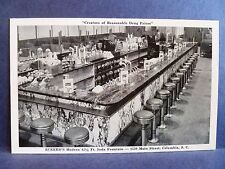 Postcard SC Columbia Interior Eckerd's Drug Store Soda Fountain
