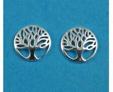 sterling silver 925 tree of life earrings studs