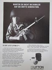 9/1982 PUB LITTON ELECTRON TUBE 2 PLUS NIGHT VISION COLT M16 US ARMY GERMAN AD