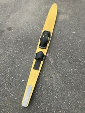 Vintage Waterski Yellow Terry Competition 67 Inches Long Old Rare Ski Art