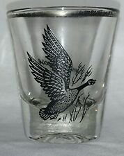 Canada Goose silver rimmed shot glass