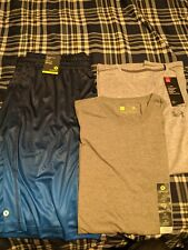 Xersion Men's running short, blue fade xl.  Xersion and Under Armour xl shirts