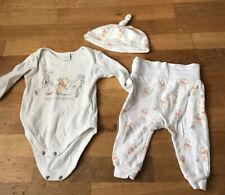 Baby Boy Girl Unisex Winnie The Pooh Vest Trousers Hat Set 3-6 Months