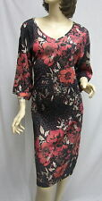 St. John Knit EVENING BLACK Pink Multi  DRESS SZ 6 8 NWT $1595