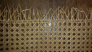 """Caning: Pre-woven Furniture Cane Web (24"""" Width) - Natural (BTF)"""