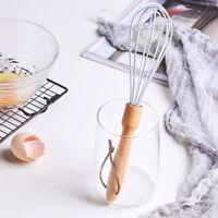 Silica Gel Egg Beater Whisk Blender with Beech Handheld Baking Tool
