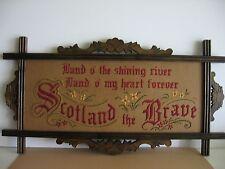 Antique motto sampler style Kit to stitch.  Scotland the Brave, new