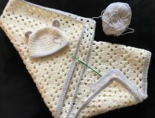 Custom keepsake baby (small) blanket & hat set
