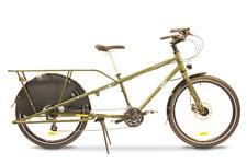 New Yuba Cargo Bike Mundo LUX Matte Olive Green 24 speed
