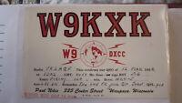 OLD VINTAGE QSL HAM RADIO CARD POSTCARD, WAUPACA WISCONSIN 1956