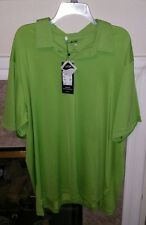 Nwt Adidas Golf Mens Climalite Solid Stretch Jersey Polo Green 2Xl