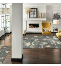 "New Allen+Roth Hand Tufted Morningside Indoor Area Rug-5' x 7' 6""-100% Wool"