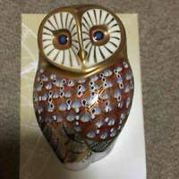 Royal Crown Owl Derby Paper Weight From JAPAN Free shipping