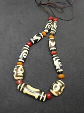 20c Tibetan Glass/plastic dzi beads Necklace#51715