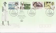 2004 Cocos Keeling Islands - 50th Anniversary of Royal Visit FDC -  FDI