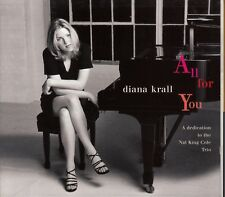 CD ALBUM DIANA KRALL / ALL FOR YOU / DEDICATION TO THE NAT KING COLE TRIO