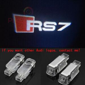 2Pcs Audi RS7 LOGO GHOST LASER PROJECTOR DOOR UNDER PUDDLE LIGHTS FOR AUDI RS7 -