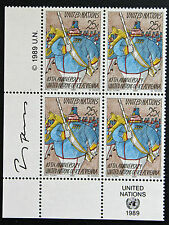 NATIONS-UNIS (new-york) timbre / stamp Yvert et Tellier n°545 x4 n** (Cyn13)