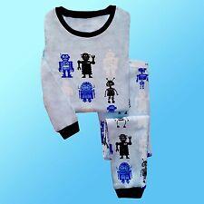 BABY PYJAMAS ROBOT THEMED VARIOUS SIZES 100% COTTON KIDS PYJAMAS SLEEPWEAR
