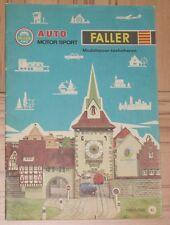 per Faller MODELLISMO Anno catalogo 1965/66 - lingua olandese