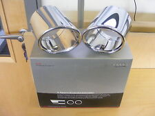 Genuine Audi TT Stainless Steel Tailpipe Trims