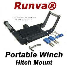 """ON SALE New Universal Winch Portable 2"""" Hitch Mount 10"""" X 4.5"""" Mounting Pattern"""