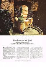 PUBLICITE  1971   BLANC FOUSSY    un vrai vin vif  caves de Touraine