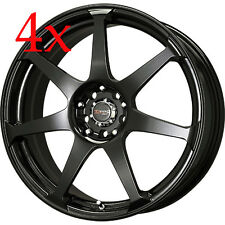 Drag Wheels DR-33 14x5.5 4x100 4x114 +35 Black Rims For Metro 180SX Colt EK EG