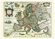 Europe France Germany Italy Spain British Isles illustrated map Hondius ca.1633
