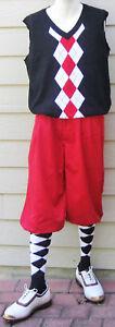 New Men Golf Knickers Red Microfiber Golf Knicker Outfit-VBWRF -Vest & Socks