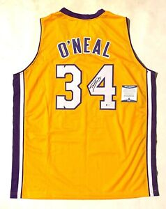 """SHAQUILLE """"SHAQ"""" O'NEAL SIGNED PRO STYLE """"DIESEL"""" JERSEY BECKETT COA #WF19080"""