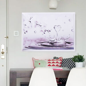 Floral Orchids Heart Drop Canvas Wall Art Printing Pictures Home Decor  H