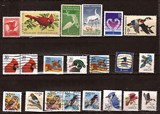 U.S.A BIRDS :Wildlife conservation,woodpecker,wood duck,blue jay  1m473